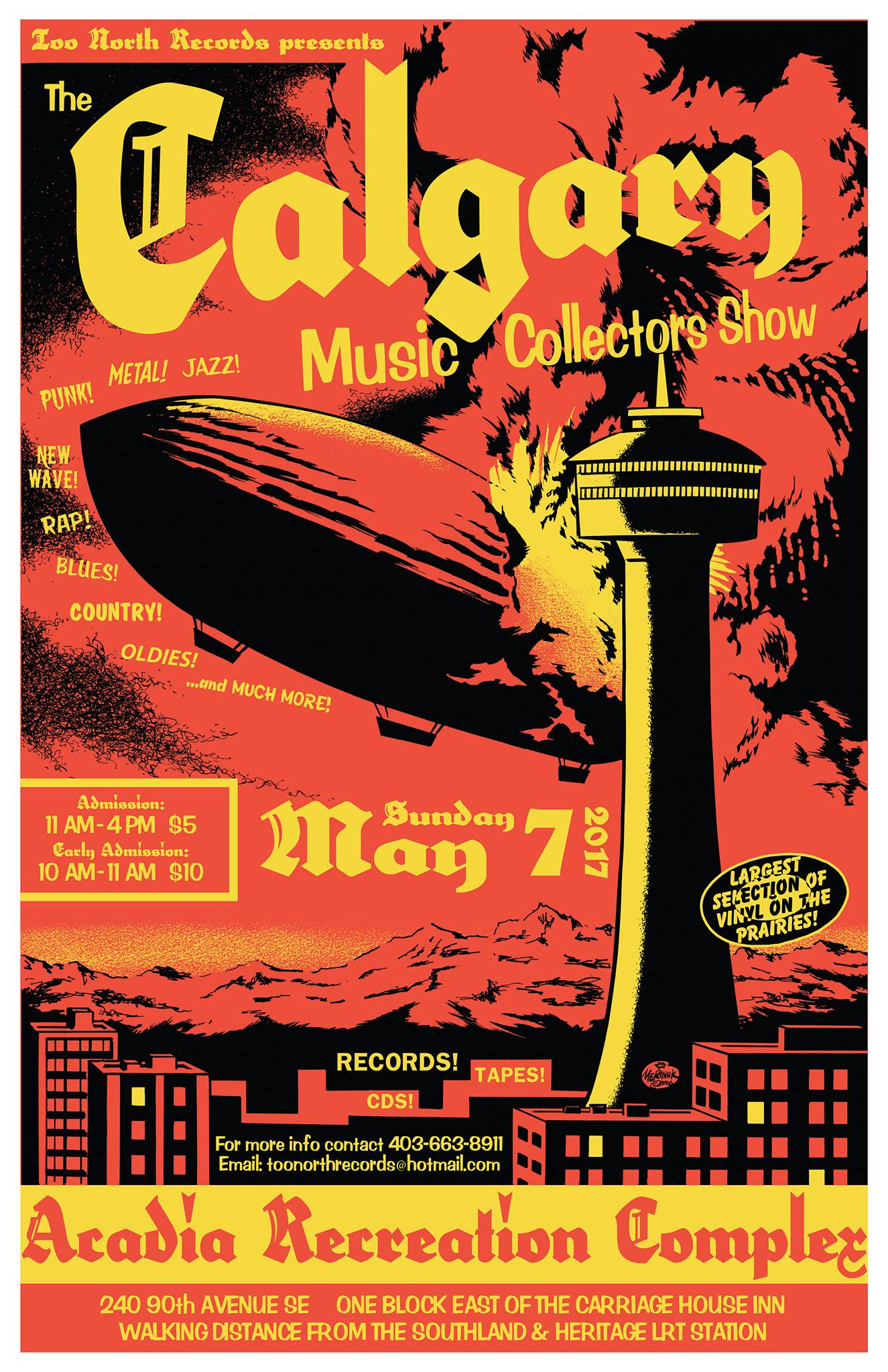 Calgary Music Collectors Show May 7 2017