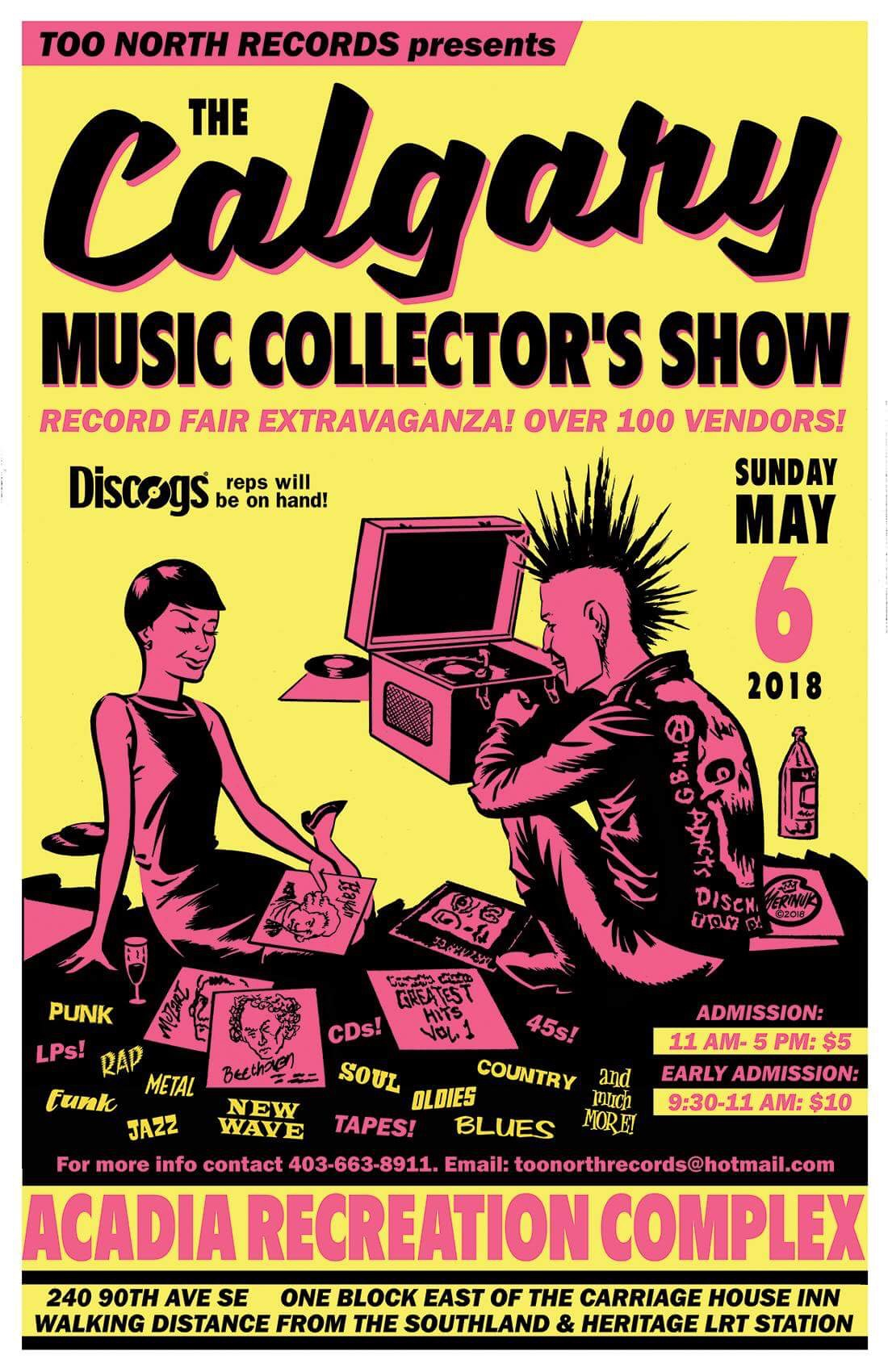 Calgary Music Collectors Show May 6 2018
