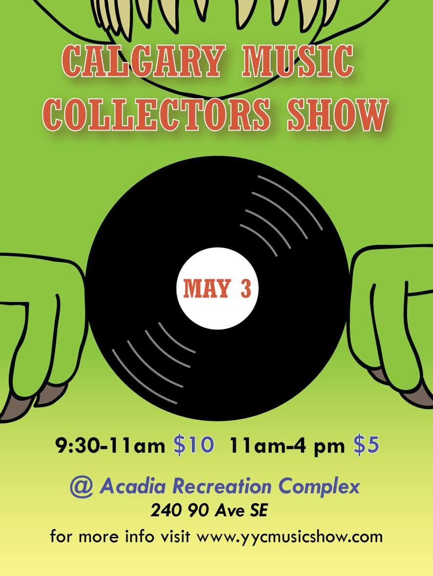 Calgary Music Collectors Show May 3 2020