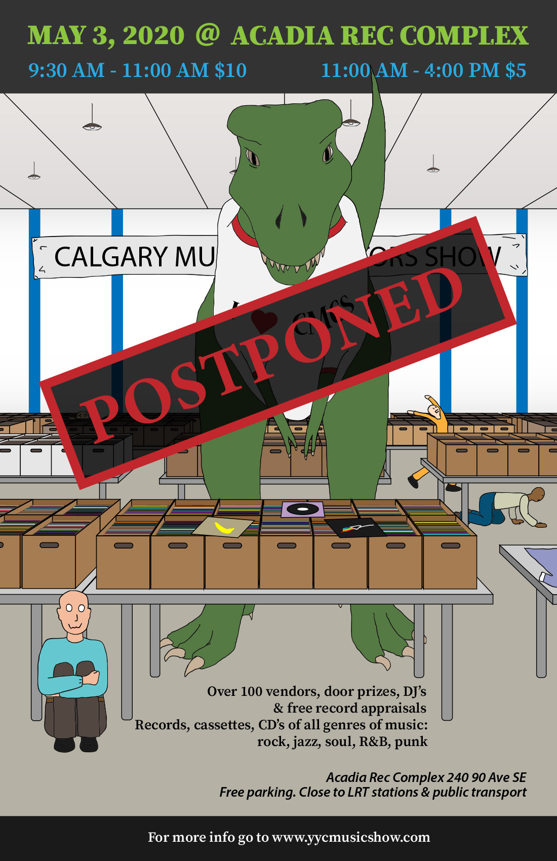 Calgary Music Collectors Show Postponed